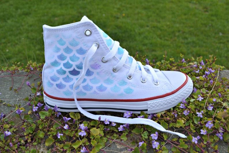 07d30a3d6a970d White Mermaid Shoes Mermaid Converse Mermaid Shoes Little