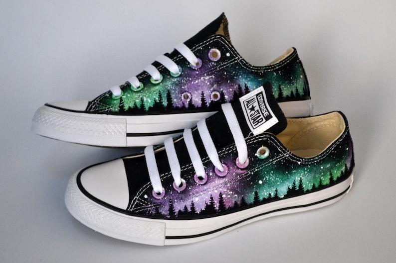 Sneakers Northern Lights Aurora Borealis Galaxy Converse up4Yhg5L