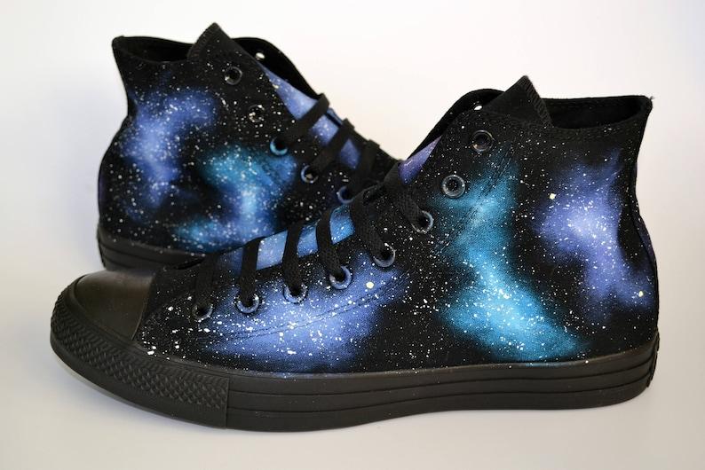 3b1d55b061c6 Galaxy Hi Tops Unisex Shoes Space Converse Men s