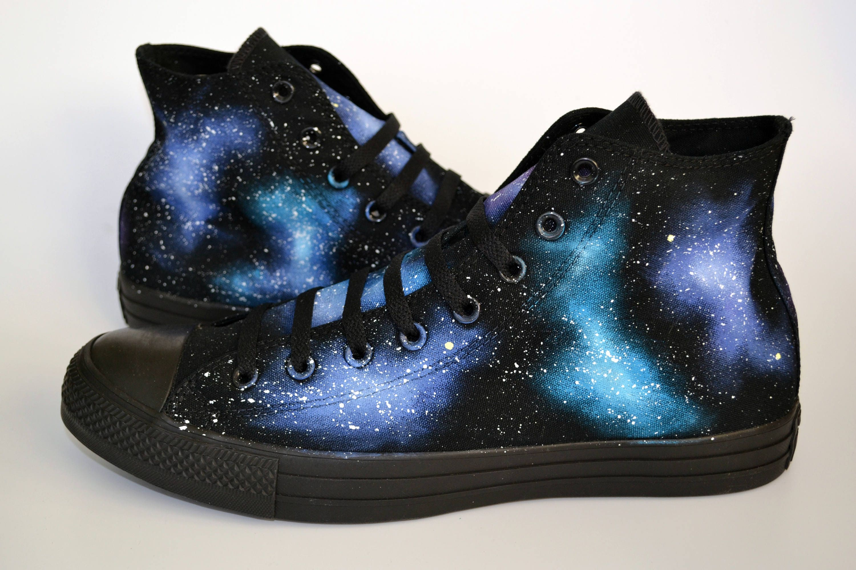 60e3d1518ccd Galaxy Hi Tops Unisex Shoes Space Converse Men s