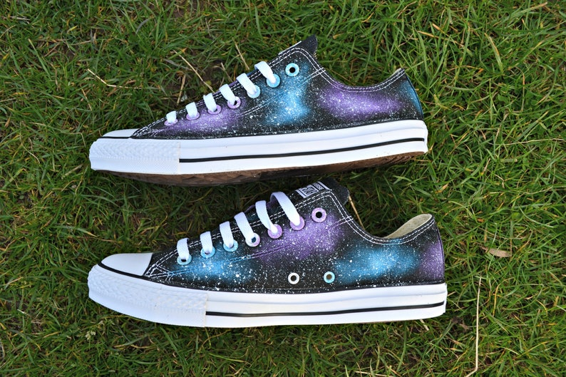 149d58957b Galaxy Converse Galaxy Shoes Low Tops Custom Converse