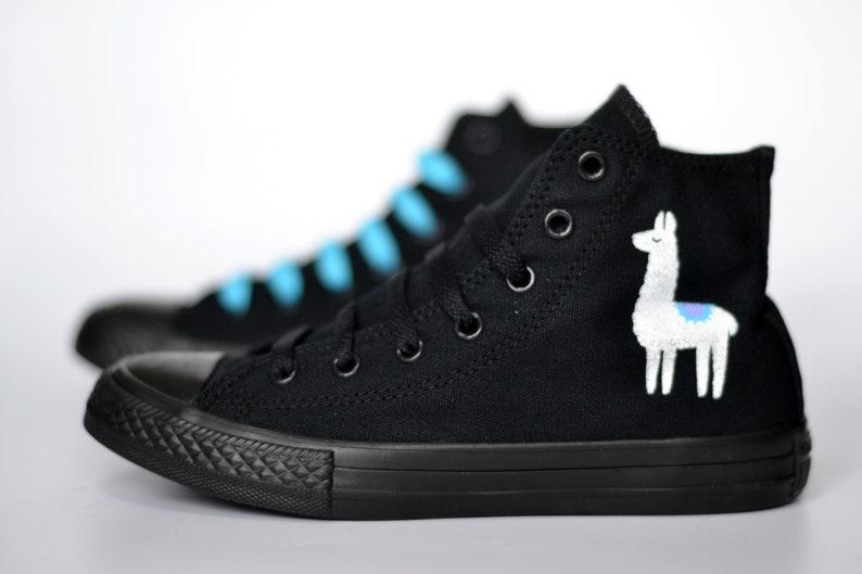 15c5474901c Llama Converse Llama Sneakers llama pattern Llama lover | Etsy