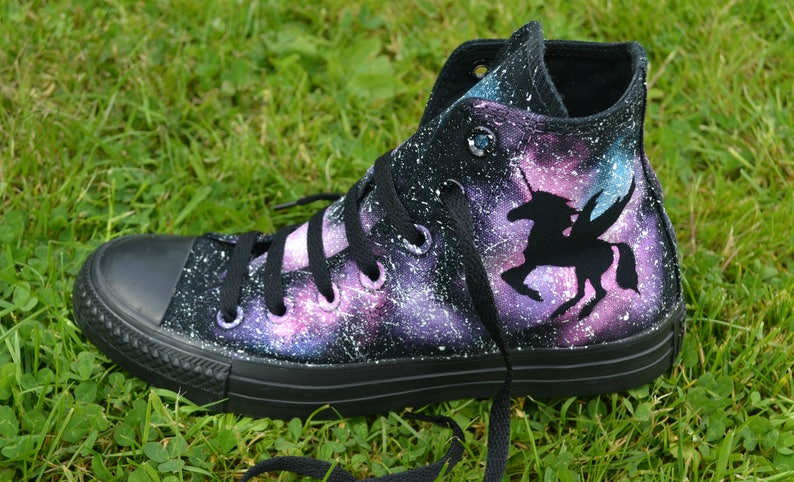 43a2f9a12631 Pink Unicorn Converse Unicorn Converse Pink Galaxy Custom