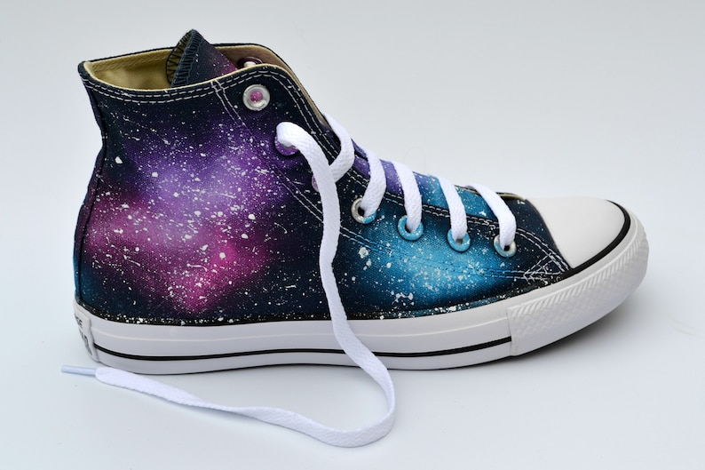 7988223eb01f Pink Galaxy Converse Purple and Pink Astronomy Lover Galaxy