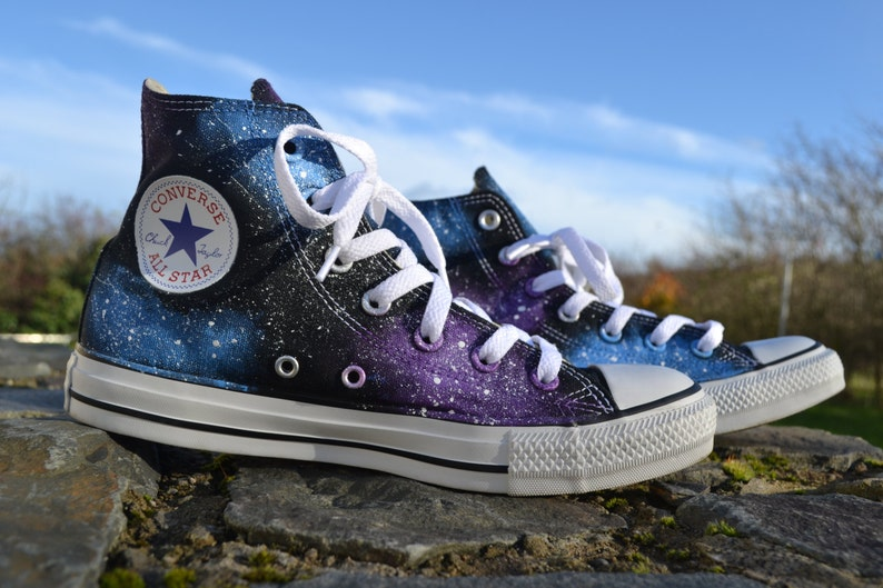 648d649d5bec40 Galaxy Converse Galaxy Hi Tops Custom Converse Nebula