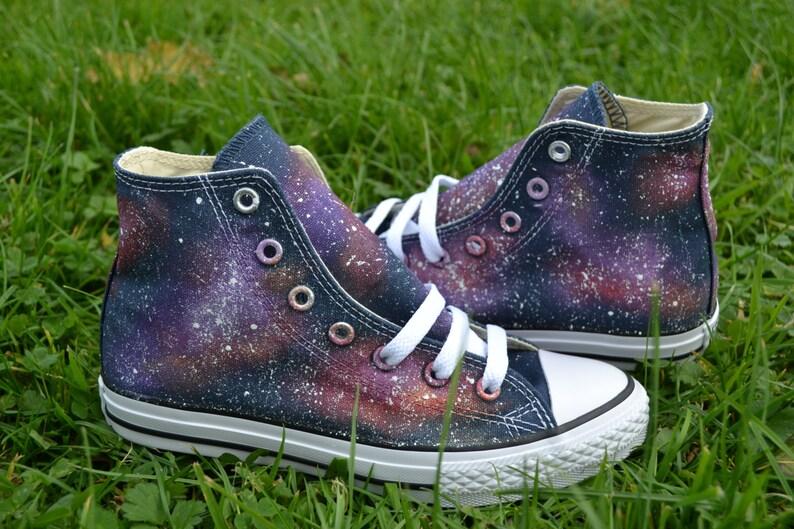 3063c01e6753 Galaxy Converse Galaxy Hi Tops Custom Converse Fall