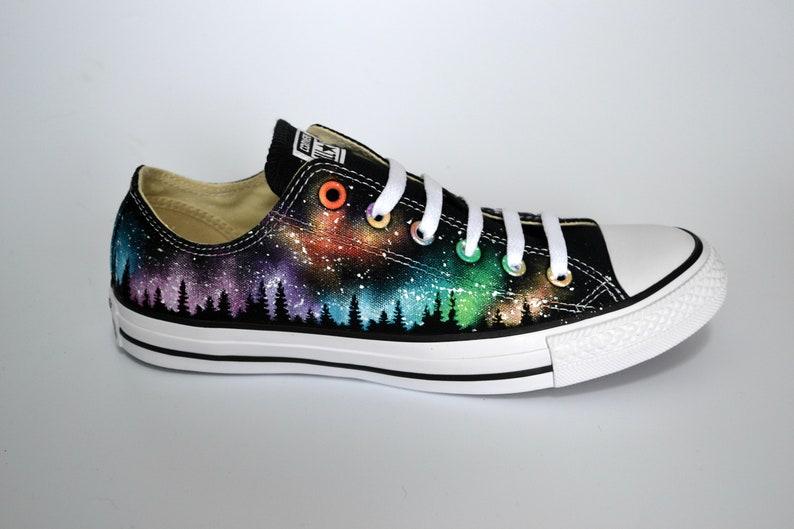 Rainbow Converse Northern Lights Galaxy Converse Silhouette  5f978ab78