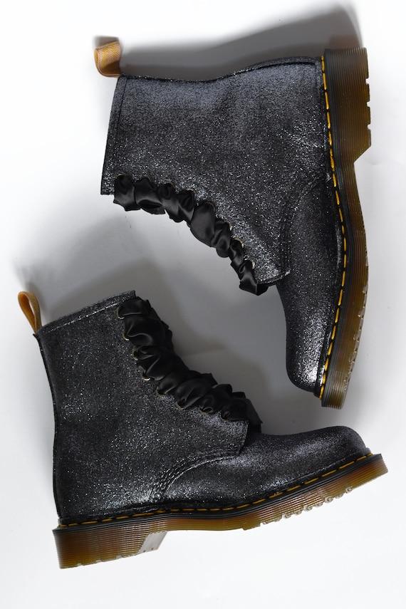 VEGAN Glitter Dr Martens, Doc Martens, Custom DMs, Glitter Boots, Glitter Shoes, Glittery DMs, Sparkly Doctor Martens
