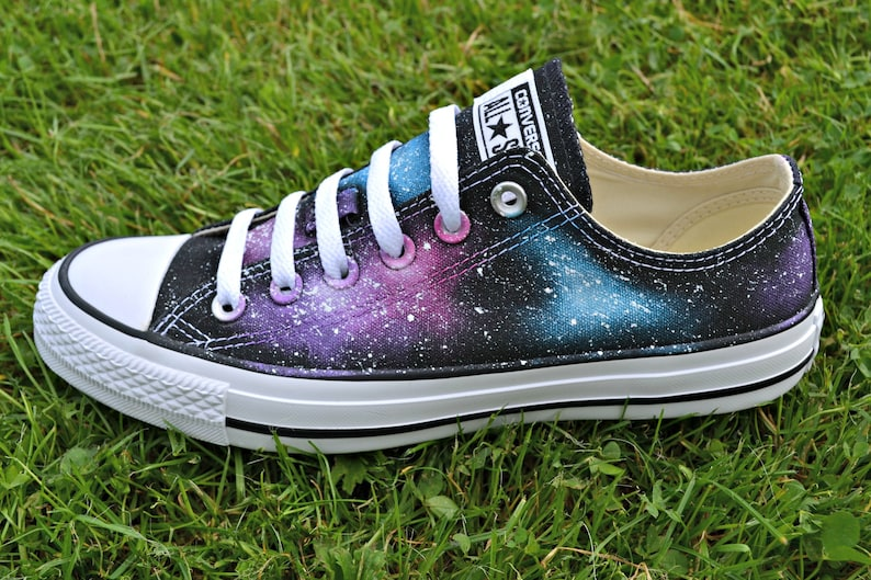 21be9a54b78d Pink Galaxy Low Tops Pink Sky Constellation Gift Galaxy