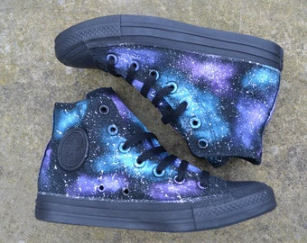 Galaxy Converse, Galaxy Shoes, Galaxy Hi Tops, Custom Converse, Nebula Converse, Painted Converse, Galaxy Sneakers, Galaxy Trainers