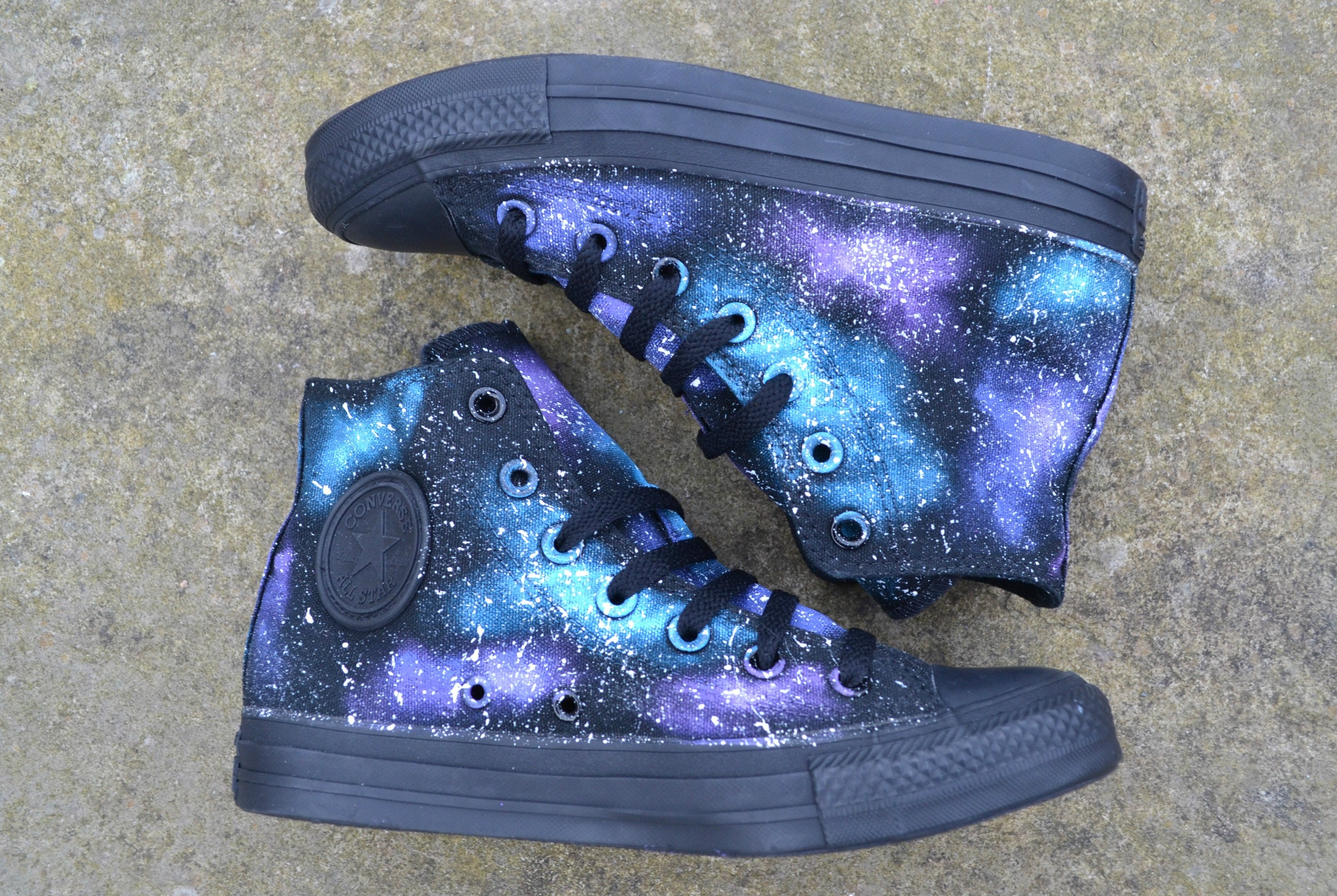 official photos 595ee 75f4f Galaxy Converse Galaxy Shoes Galaxy Hi Tops Custom   Etsy