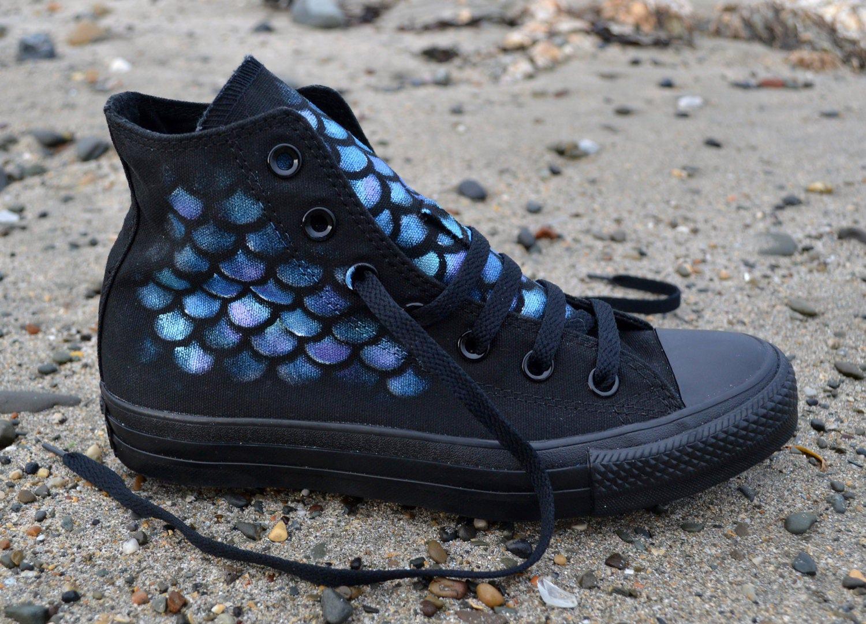 2f6f61cef48e Mermaid Converse Mermaid Shoes Custom Converse Little