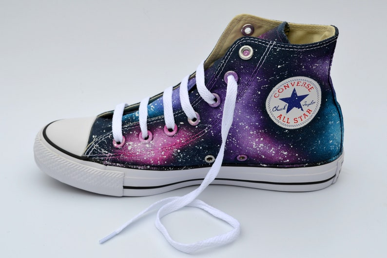5cabfabeee57 Pink Galaxy Converse Purple and Pink Astronomy Lover Galaxy