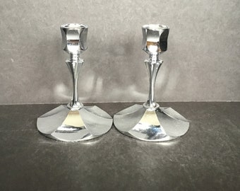 Irvinware Chrome Candle Holders