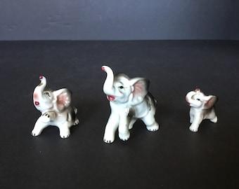 Tiny Baby Elephant Vintage Bone China Baby Elephant Figurine Bone China Porcelain Ceramic Wild Animals Miniature Baby Elephant Figurine