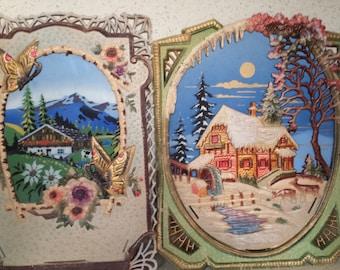 Paper Mache Calendar Holder - Czechoslovakla