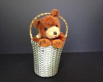 Windup Bear/Dog  in the Basket