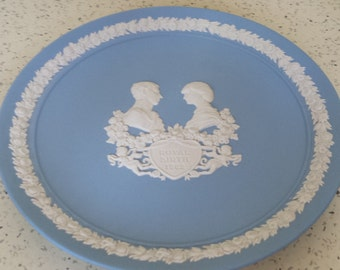 Jasperware Royal Birth Plate Prince William