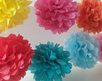 Pick your color----9 Pom Poms