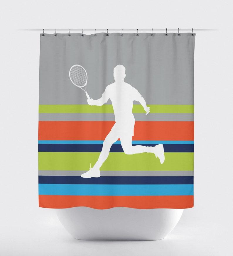 Rideau de douche de tennis pour les garçons salle de bains | Etsy