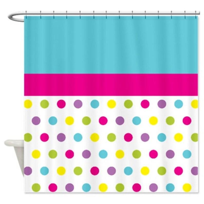 Polka Dot Shower Curtain Custom Hot