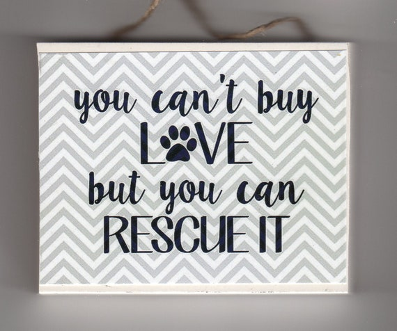 dog rescue sign 3 1/2 x 5\