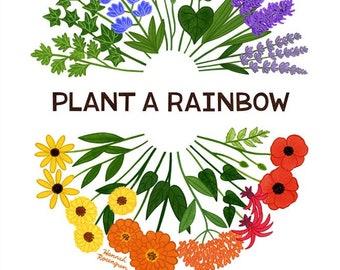 """11x14"""" Plant a Rainbow Print"""