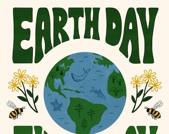 """Earth Day Every Day 11x14"""" Print"""