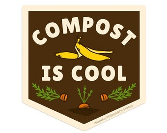 Compost is Cool Sticker