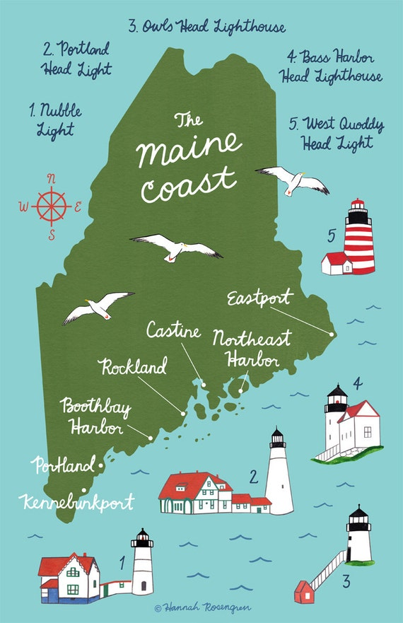 Map of the Maine Coast 11x17