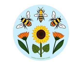 Bumble & Honey Bee Sticker