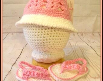 Crochet Baby Sunhat and Sandals