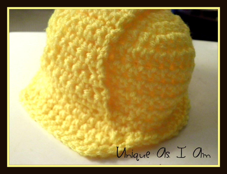 Crochet Baby Hard Hat Pattern Newborn 0 3 Months Etsy