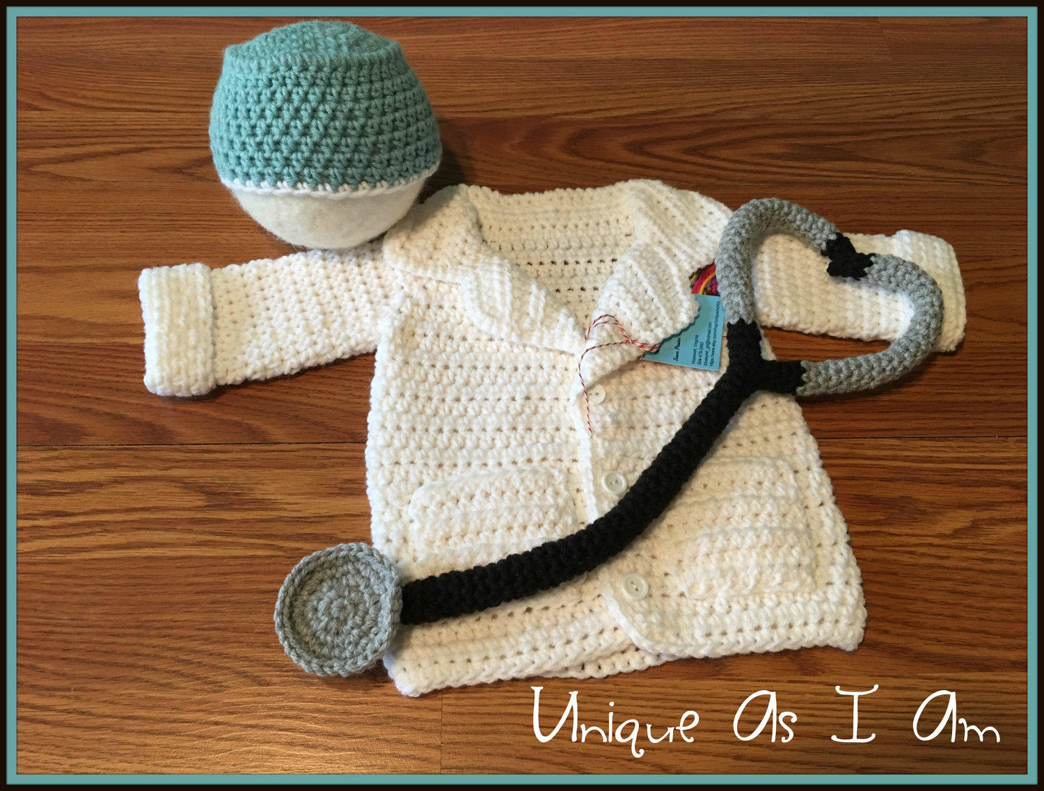 Crochet Doctor Jacket Cap And Stethoscope Outfitphoto Prop Etsy