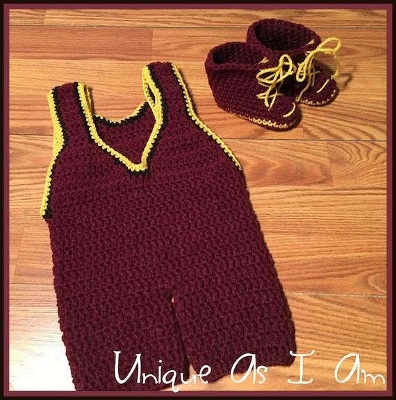 Crochet Pattern Baby Wrestling Singlet Only Etsy