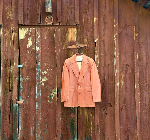 70's Brown Leather Jacket, Vintage Jacket, Vintage