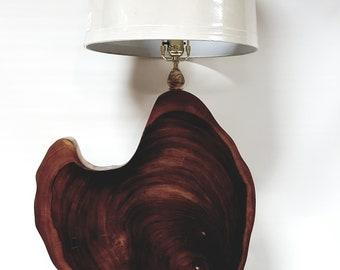 Monkey Pod Wood Table Lamp