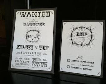 Western wedding invitations | Etsy