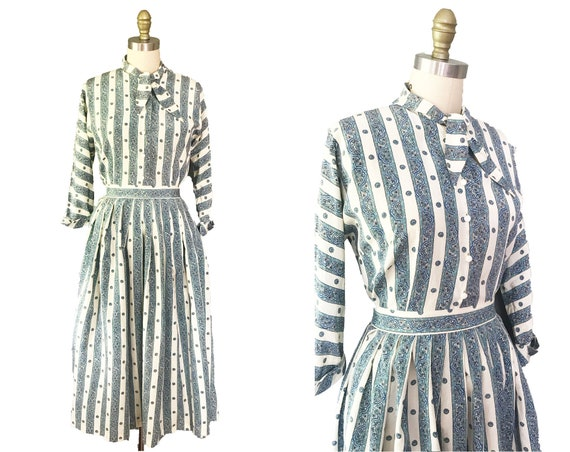 Vintage 1950s Set: 2PC Blouse with Matching Skirt
