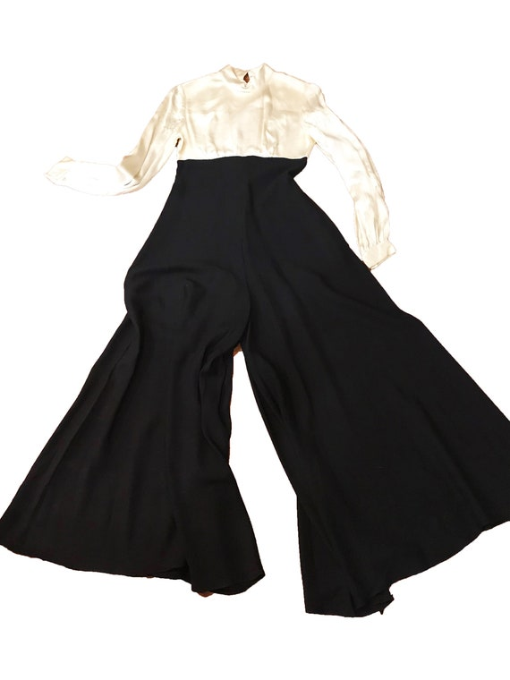 Rare Vintage 1960's 1940's Inspired Jumpsuit - Ro… - image 5
