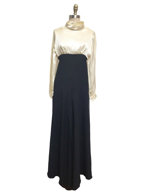 Rare Vintage 1960's 1940's Inspired Jumpsuit - Ro… - image 2