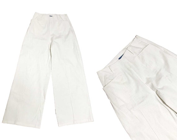 Vintage 1940s Inspired Collectif White Pants-  Hig