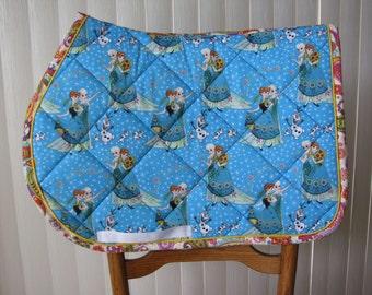 Custom Quilted English saddle, All purpose, AP, pad, Princesses, handmade by Pegasusthreads