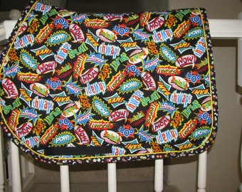 Custom Quilted English Saddle All Purpose, AP, pad, WOW!, handmade by Pegasusthreads.