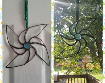 Beveled Pinwheel Window suncatcher