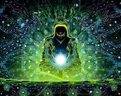 Enlightenment - Psychedelic Fluorescent Backdrop Tapestry Blacklight Poster