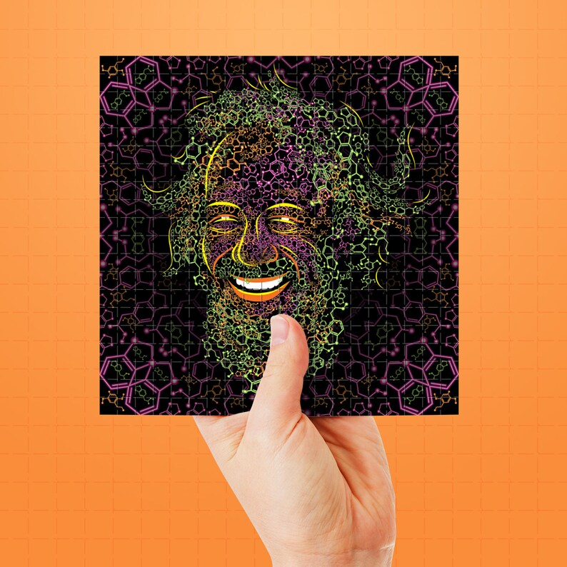 Sasha Shulgin 2C-B and MDMA Molecules Portrait Blotter Art Perforated Acid  Art Paper Collectible Psychedelic LSD Sheet Tabs Hits