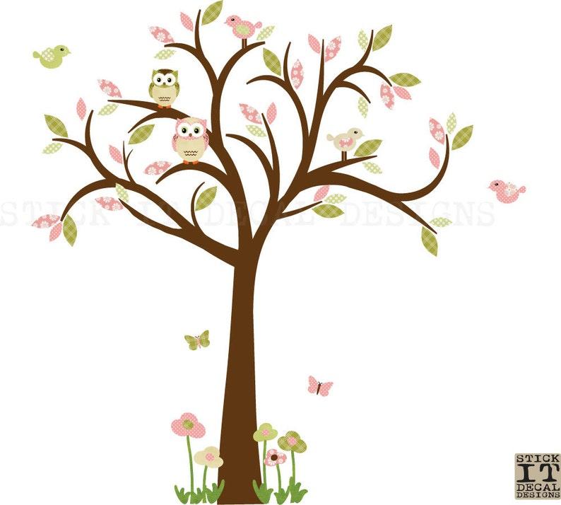 Eule Wall Decal Wandtattoo Kinderzimmer Mädchen Baum Wall | Etsy