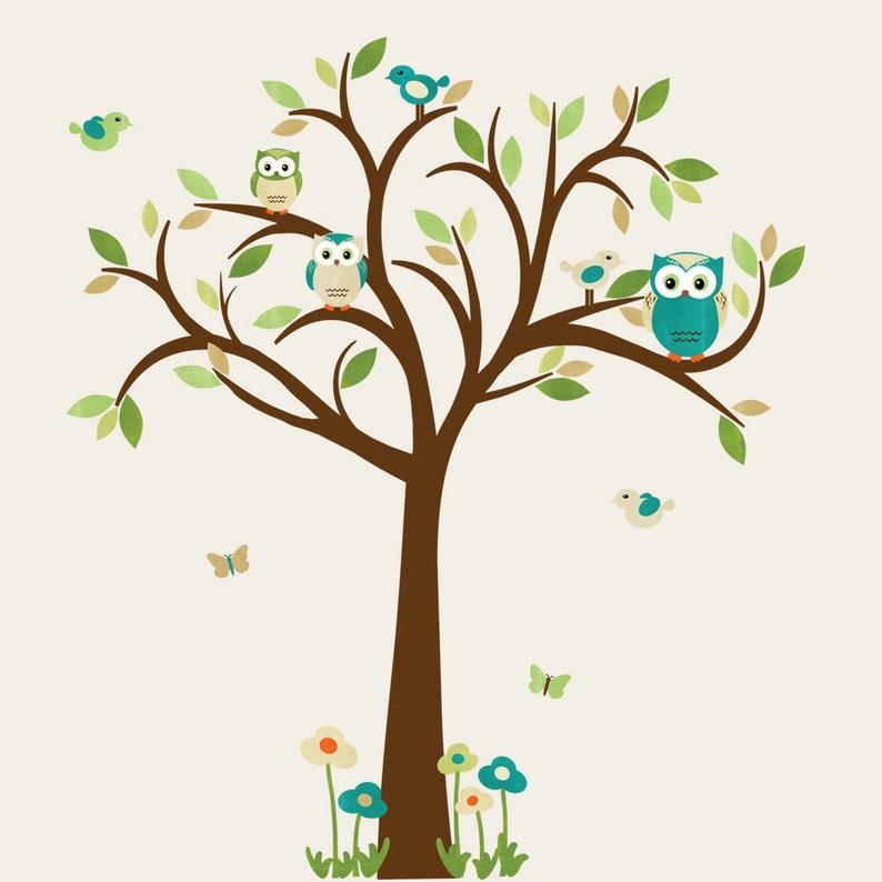 Eule Baum Wandtattoo Eule Baum Wandtattoo Eule Wandtattoo | Etsy
