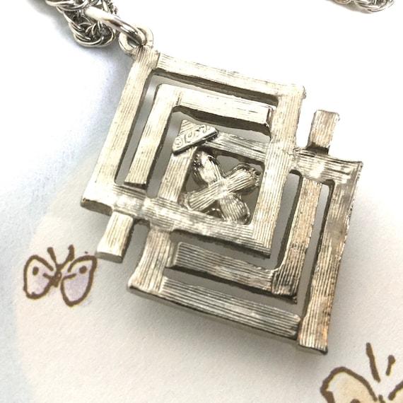 Coro vintage rhinestone and pearl necklace Art De… - image 7